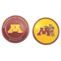 Minnesota Golden Gophers Double-Sided Golf Ball Marker, 1 Team Logo Double Sided Ball Marker By Waggle Pro Shop,USA
