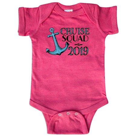 Cruise Squad 2019 blue ship anchor Infant Creeper