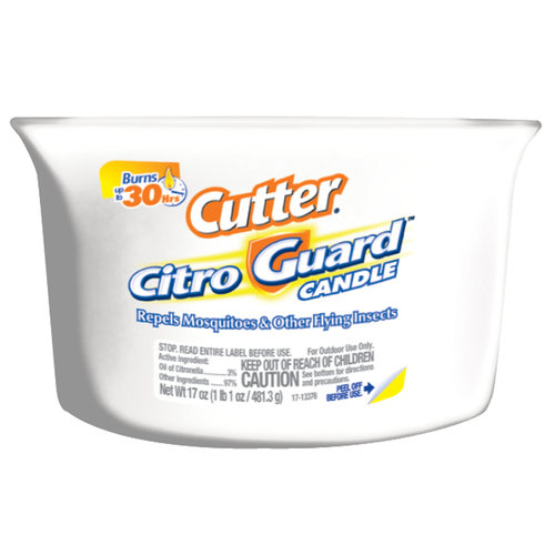Cutter CitroGuard Ceramic Candle, White
