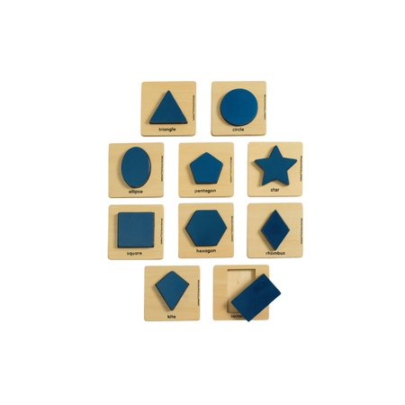 Excellerations Wooden Shape Puzzles - Set of 10 (Item # WSHAPES)](Discount Puzzles)