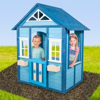 Sportspower Woodbridge Wooden Playhouse, Blue