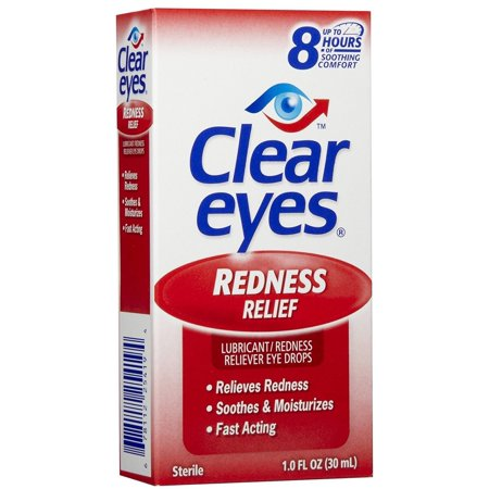 Clear Eyes Redness Relief Drops 1 oz (Crystal Clear Eyes)