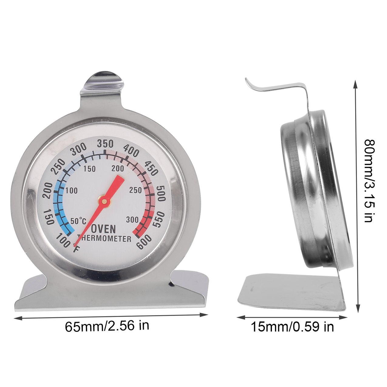 Classic Stand Up Food Meat Dial Oven Thermometer Temperature Gauge Gage by