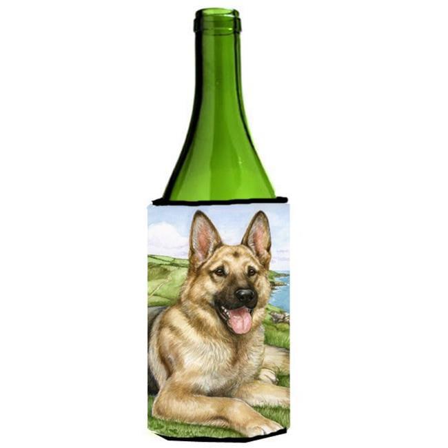 German Shepherd by Debbie Cook Wine Bottle Can cooler Hugger