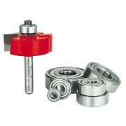 Freud 1-3/8 in. Dia. x 1/4 in. x 2-1/4 in. L Carbide Tipped Rabbeting Router Bit Bearing Set 6 pc.