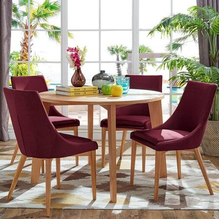 Miraculous Chelsea Lane Baxter 5 Piece Dining Set Light Oak Uwap Interior Chair Design Uwaporg