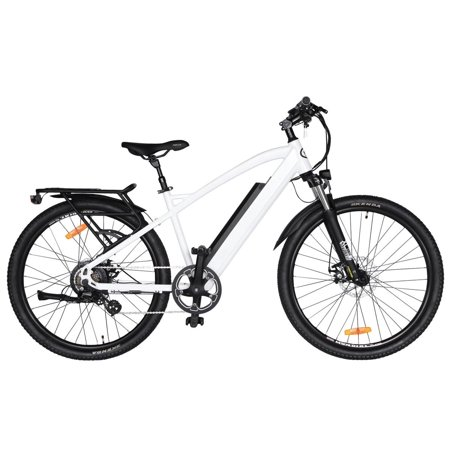 "T4B Enduro Hard Tail City and All Terrain Bike - Bafang 350W Brushless Electric Motor, 8 Speed, Samsung Li-Ion Battery 36V13Ah, 27.5"" Tires - White - image 12 de 12"