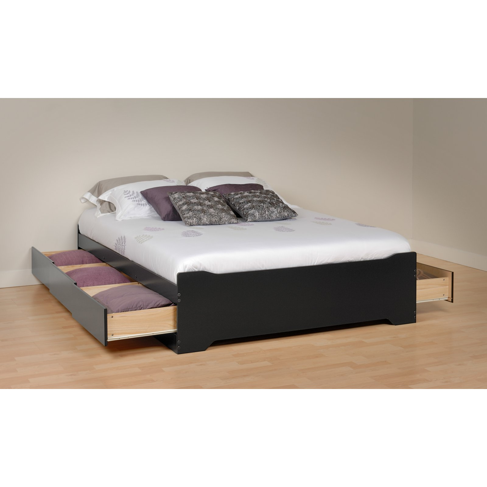 Coal Harbor Queen Mates Platform Storage Bed with 6 Drawers, Black (Box 2 of 3)