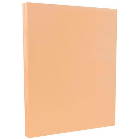 JAM Paper® Vellum Bristol Cardstock - 8.5 x 11 - 67 lb Peach - 50 Sheets/Pack ()