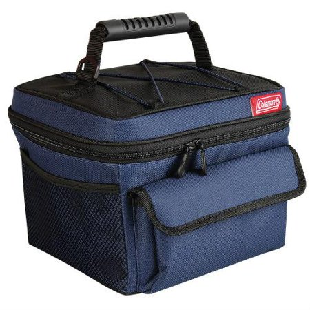 Coleman 10 Can Rugged Lunch Box Cooler Blue Black