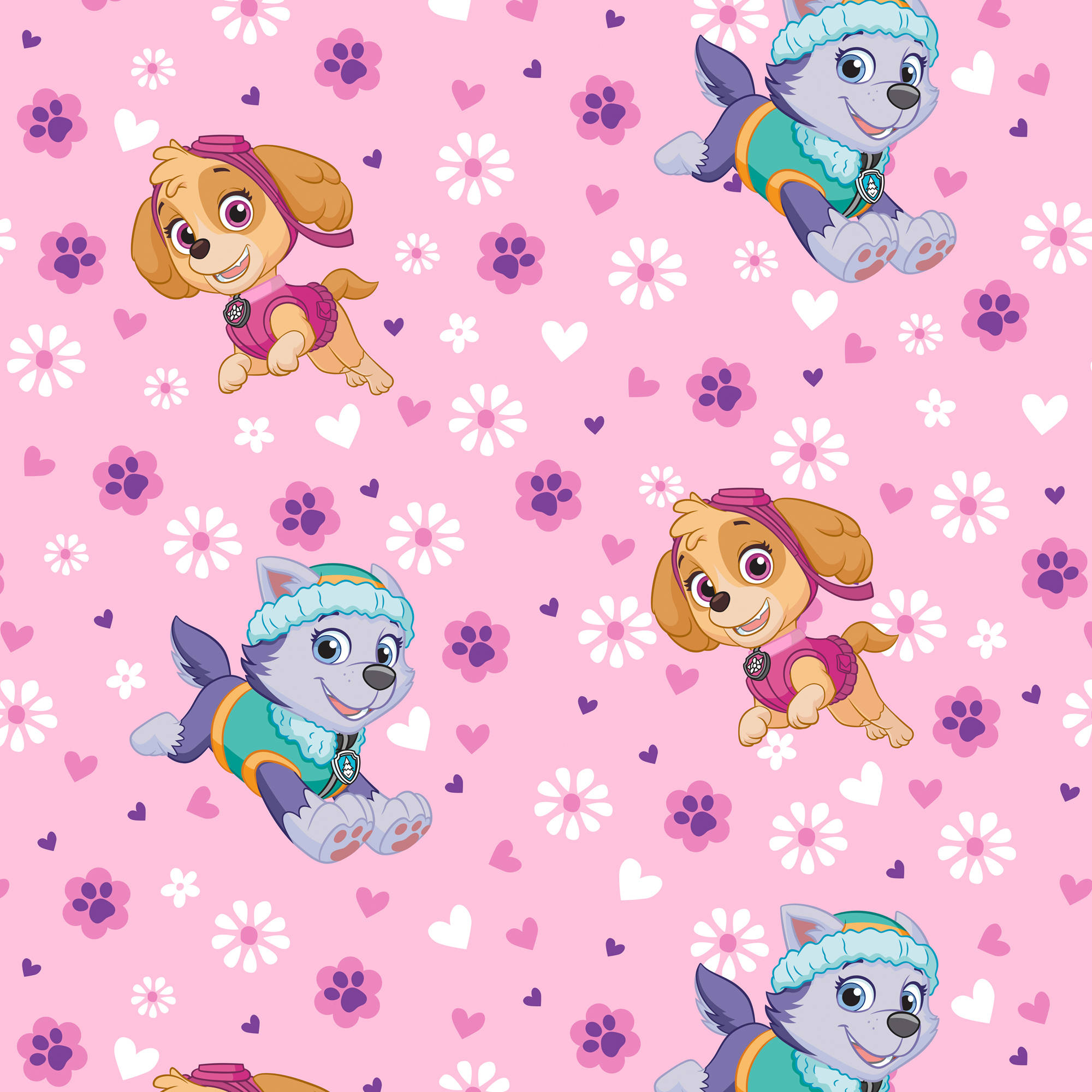 Paw Patrol Pup Power Fleece Fabric By The Yard, 60""