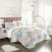 Heritage Club Rainbow Pastel Faux Fur Comforter Set