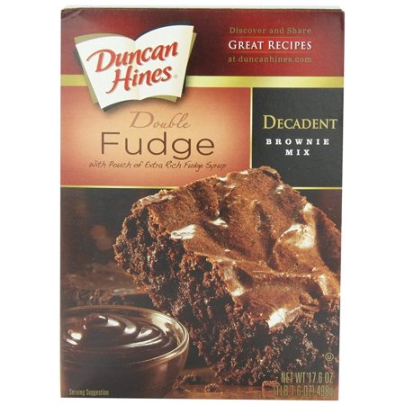 12 PACKS : Duncan Hines Decadent Brownie Mix, Double Fudge, 17.6 Ounce