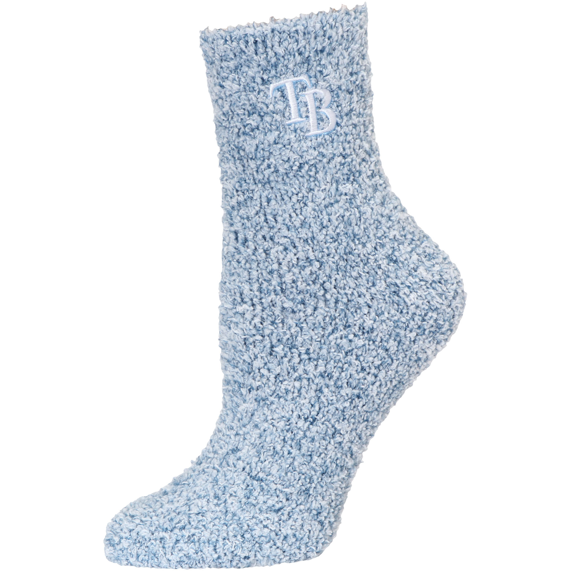 Tampa Bay Rays Women's Fuzzy Block Tri-Blend Socks - Navy - M