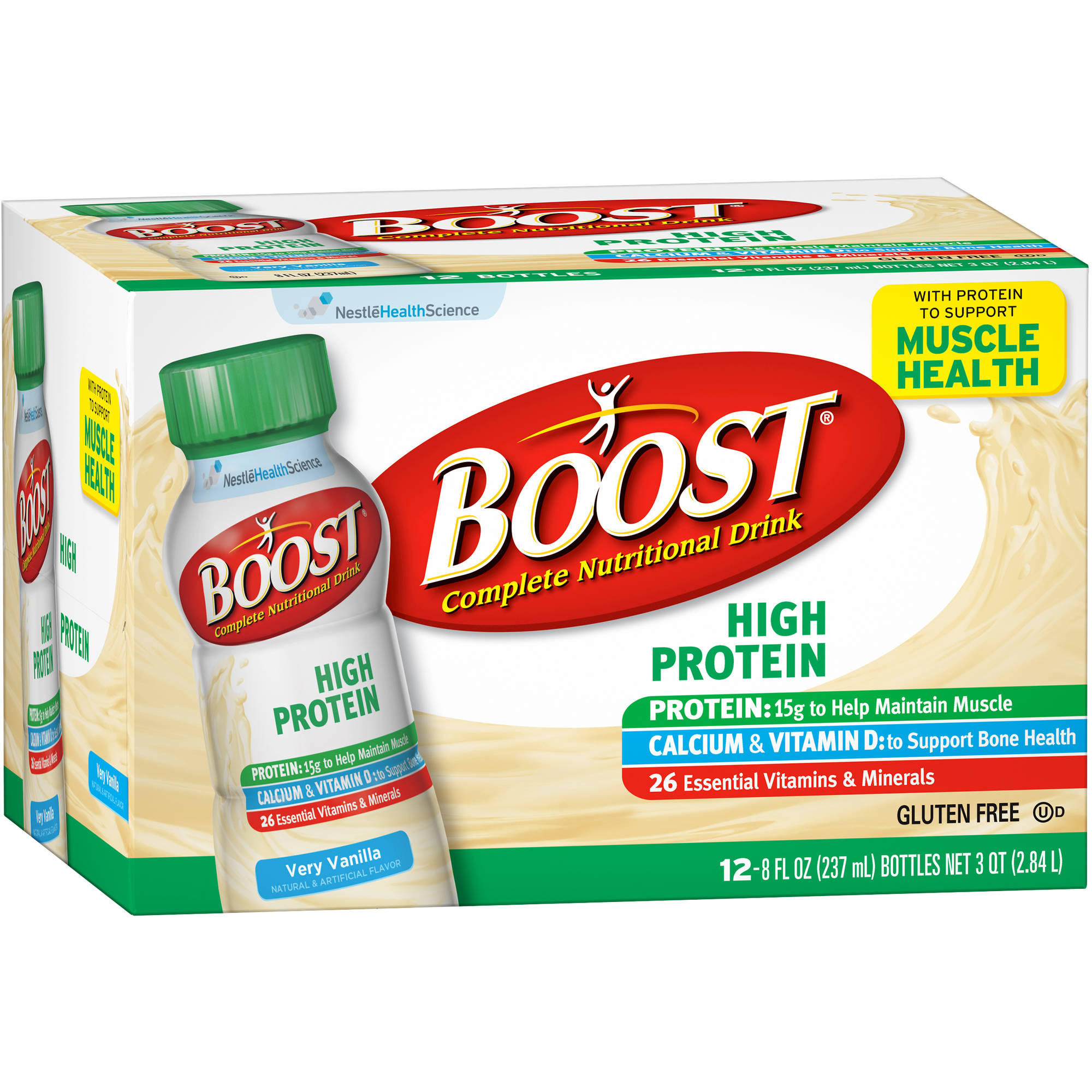 Boost PLUS� Very Vanilla Complete Nutritional Drinks, 8 fl oz, 12 count