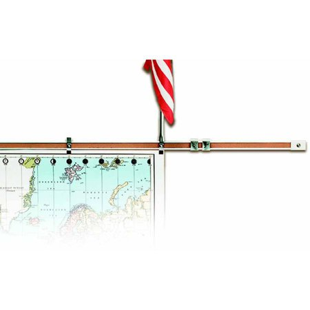 Cork Map Rail (Best-Rite Map Display Rail, Multiple Sizes, Aluminum Frame, Cork)