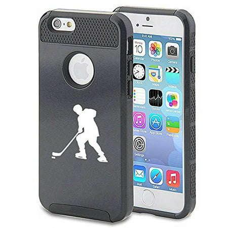 Apple iPhone 6 6s Shockproof Impact Hard Case Cover Hockey Player (Black),MIP (Iphone 6 Devils Hockey Case)