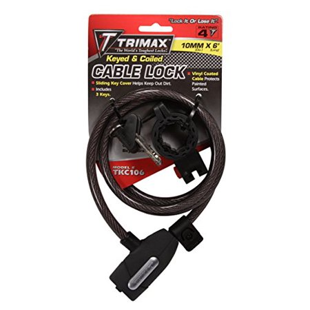 TRIMAX- Coiled Cable Lock 10mm by 72