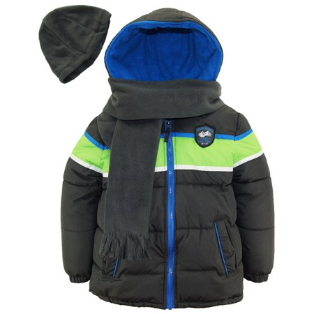 f4e182c2a Ixtreme Toddler Boys Colorblock Expedition Puffer Winter Jacket Coat ...