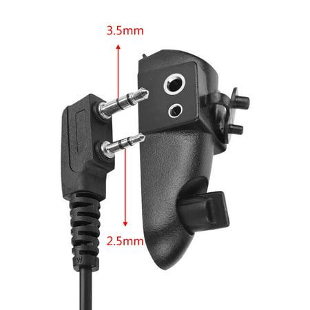Ejoyous 2 Pin Jack 3 5mm/2 5mm Walkie Talkie Headset Audio Adapter for  Motorola GP328/338/PTX760, Walkie Talkie Headset Adapter,Audio Adapter
