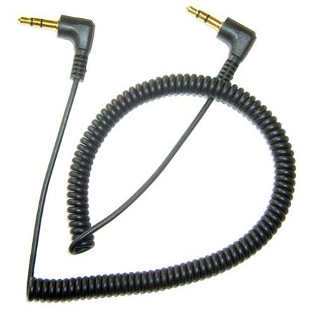 Black Coiled Aux Cable Car Stereo Wire Compatible With ASUS ZenFone V Live Max Plus M1 AR 5z 5Q 4 Pro 3 Max, ROG Phone, Google Nexus 7 2 7 - Barnes & Noble NOOK HD+ HD Color (Best Max For Live Devices)