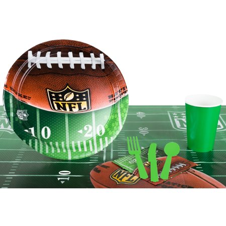 NFL Drive Football Playoffs Superbowl Tableware 57pc Party Pack, Green (Superbowl Parties)