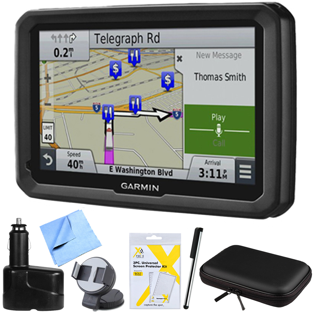 """Garmin dezl 770LMTHD 7 GPS Navigation with Lifetime Map/Traffic Updates Mount Bundle - Includes 7"""" GPS Navigation System, Hardshell Case, Stylus Pen with Pocket Clip, Car Charger and More"""