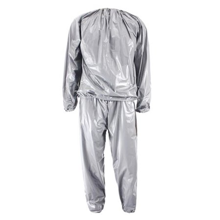 Sodial Heavy Duty Fitness Weight Loss Sweat Sauna Suit Exercise Gym Anti Rip Silver Xl
