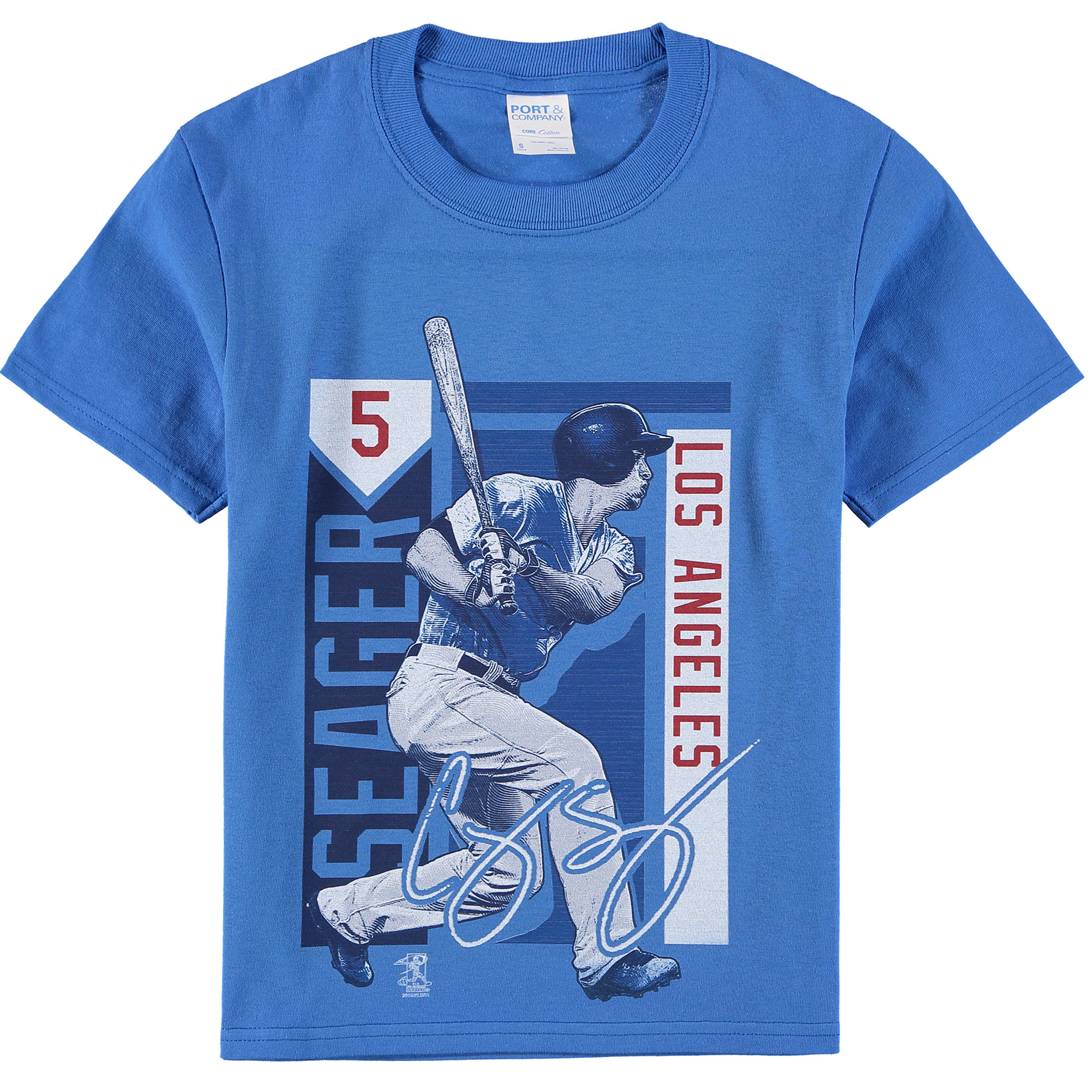 best website e4c5e de280 Corey Seager Los Angeles Dodgers Youth Color Block Player Series Graphic  T-Shirt - Royal