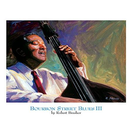 Bourbon Street Three Light - Bourbon Street Blues III by Robert Brasher 11x14 Poster