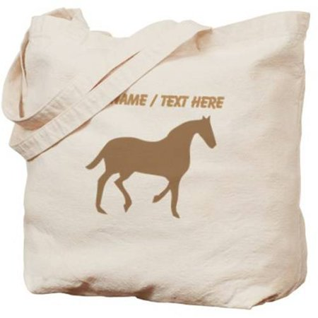 Cafepress Personalized Brown Horse Silhouette Tote Bag