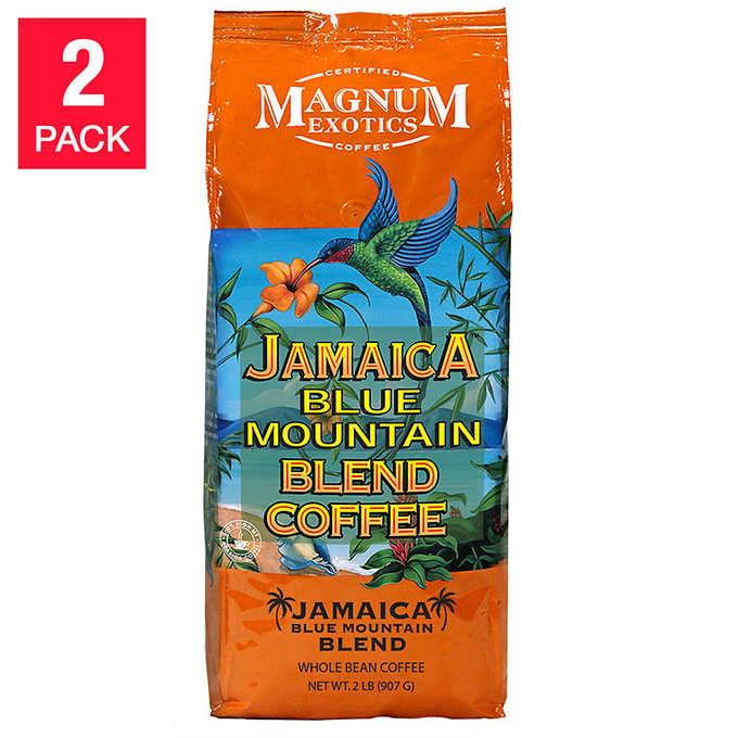 Jamaica Blue Mountain Blend Coffee 2Lbs, 2-Pack