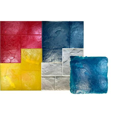 5 Ashlar Concrete Stamp Set GlobMarble Slate Texture Imprint Stamp Mats SM 3100