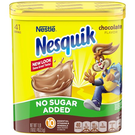 Nestle nesquik no sugar added chocolate flavored powder 16 oz nestle nesquik no sugar added chocolate flavored powder 16 oz canister sciox Choice Image