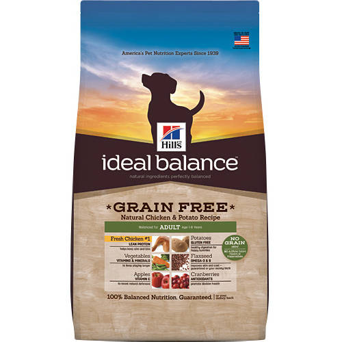 Hill's Ideal Balance Grain Free Adult Age 1-6 Years Natural Chicken & Potato Recipe Dog Food, 21 lb by Hill's Pet Nutrition, Inc.