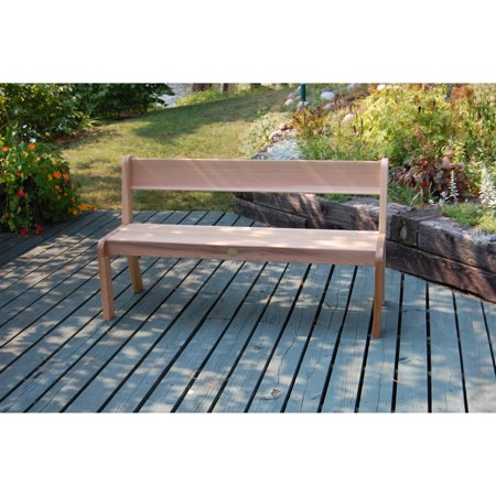 Rustic Natural Cedar Furniture Red Cedar 5 Ft Outdoor Wood Bench