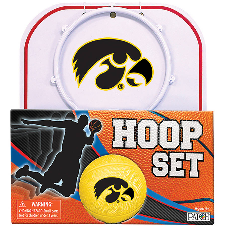 Officially Licensed NCAA Iowa Hoop Set