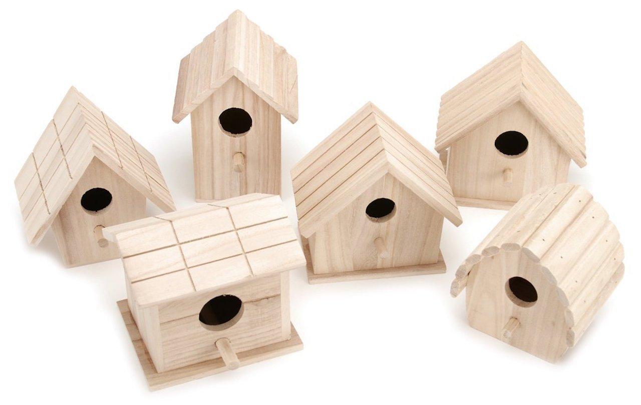 Bulk Buy: Darice DIY Crafts Wood Birdhouses Promo Assortment (6-Pack) 9164-50 by