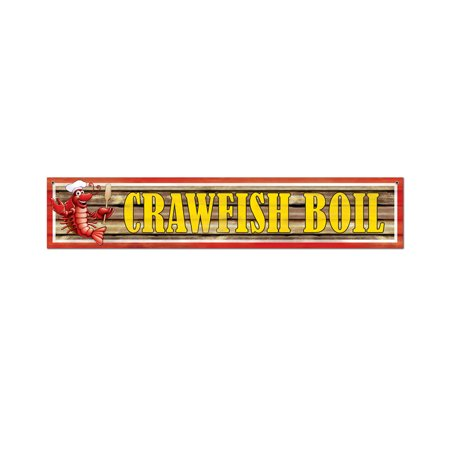Crawfish Boil Banner (Pack of 12) - Crawfish Boil Party Supplies