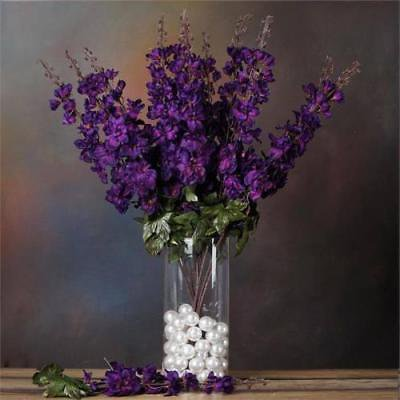 3 Artificial Delphinium Bushes Wedding Vase Centerpiece Decor