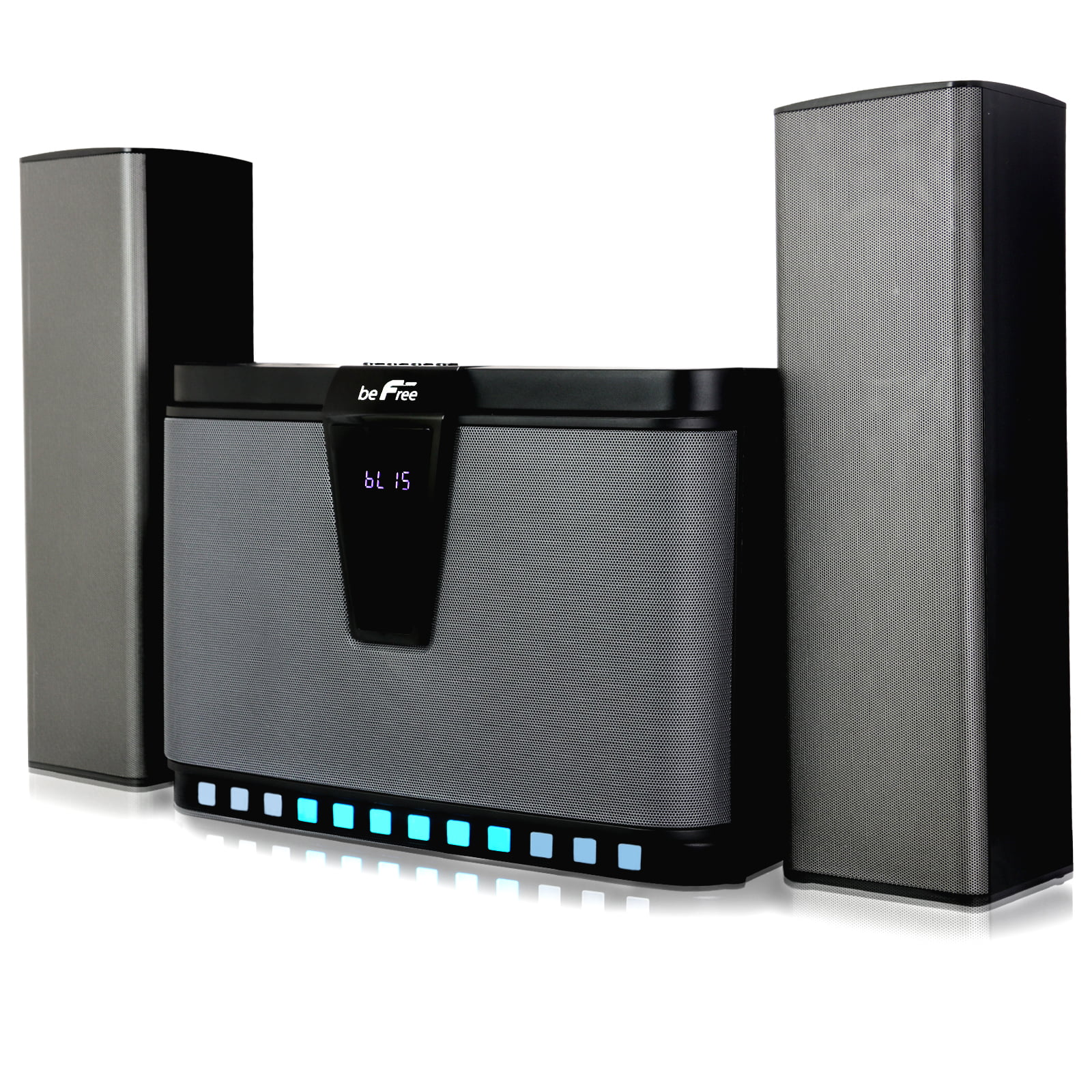 SD and full function remote control beFree Sound 2.1 Bluetooth Speaker System for any PC or Home Entertainment with FM Radio