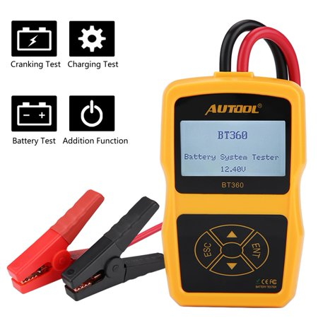 HURRISE 12V BT-360 Automotive Load Battery System Tester Digital Analyzer Cell Test Tool Multi-language, Battery Load Tester, Car Battery Tester Analyzer - image 2 of 7