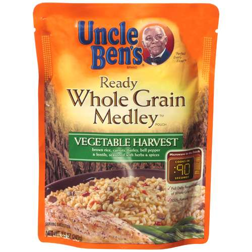 Uncle Bens Vegetable Harvest Whole Grain Medley Ready Rice, 8.5 oz