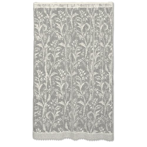 Heritage Lace Conventry Graphic Print & Text Semi-Sheer Rod pocket Single Curtain Panel