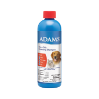 Adams Flea and Tick Control Cleansing Shampoo for Cats and Dogs 12 ounces 12 Ounces
