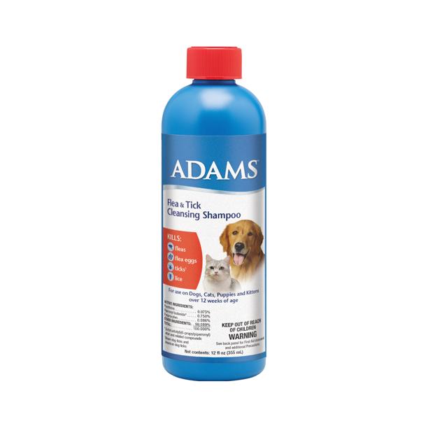 Adams Flea And Tick Cleansing Shampoo For Cats And Dogs 12 Ounces Walmart Com Walmart Com