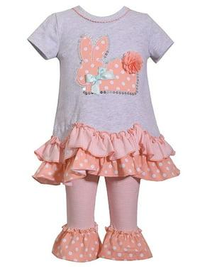 Blueberi Boulevard 2-Pc Graphic-Print Ruffle Tunic /& Leggings Set Size 12 months