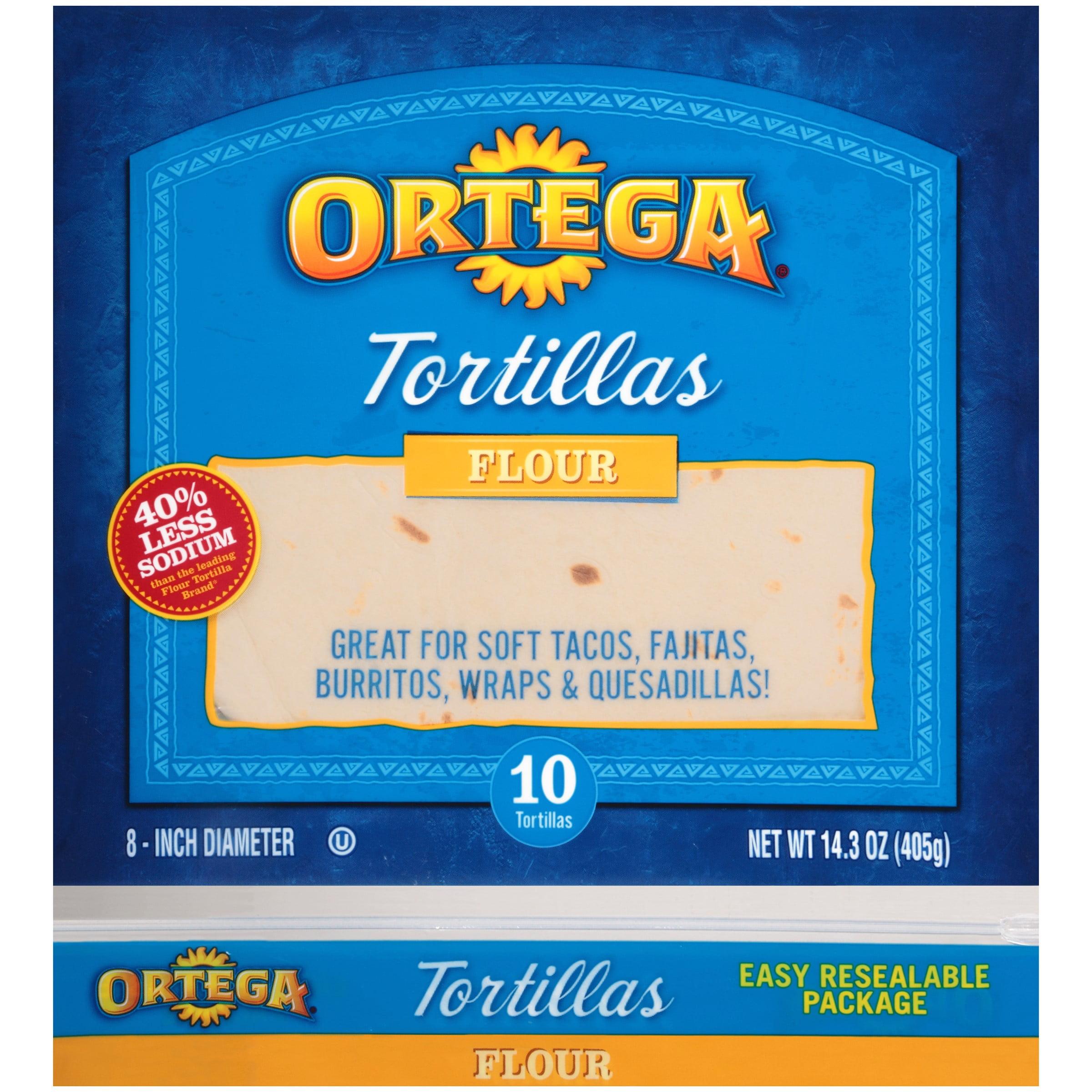 Ortega Flour Tortillas, 10 Ct, 14.3 Oz