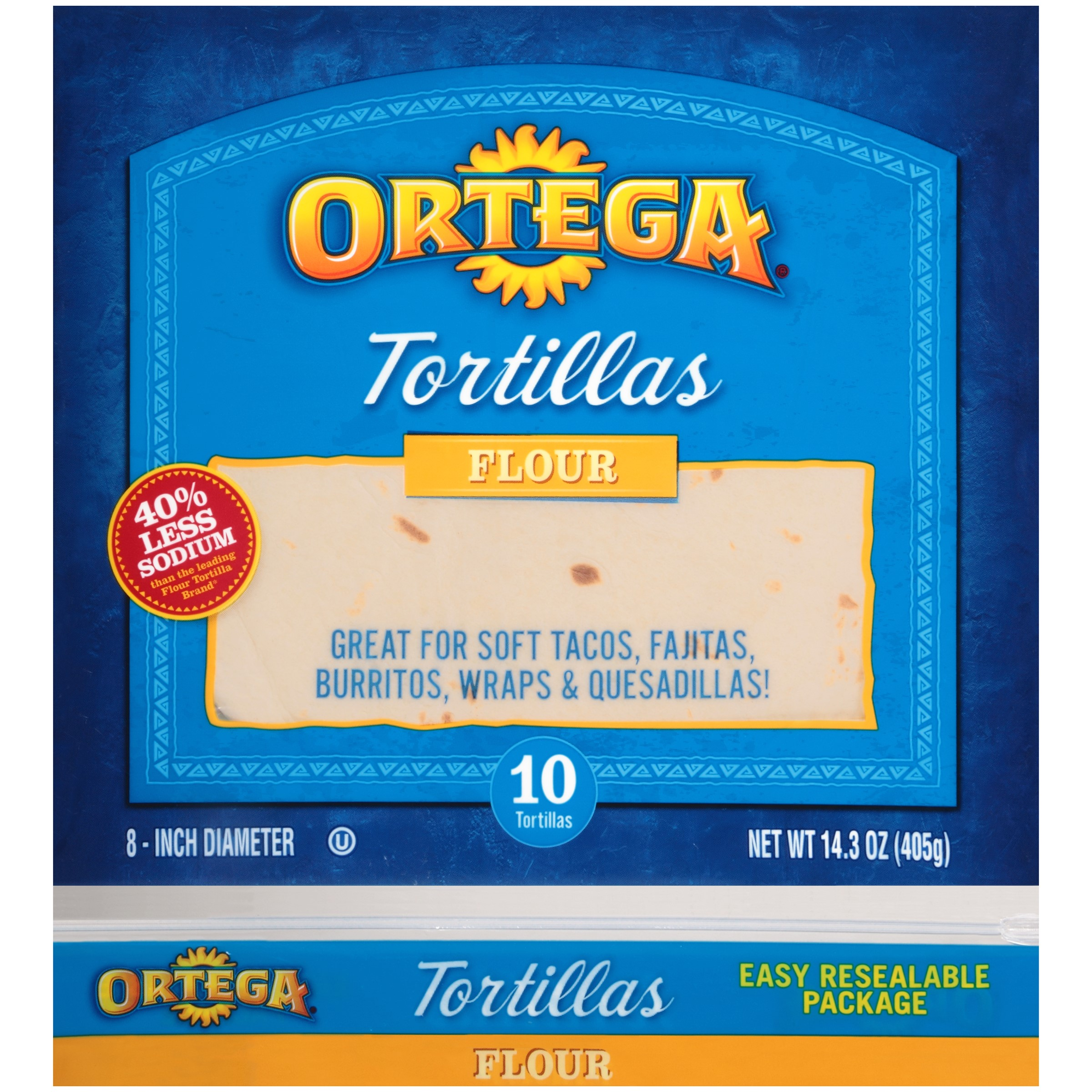 Ortega Flour Tortillas, 10 Ct, 14.3 Oz