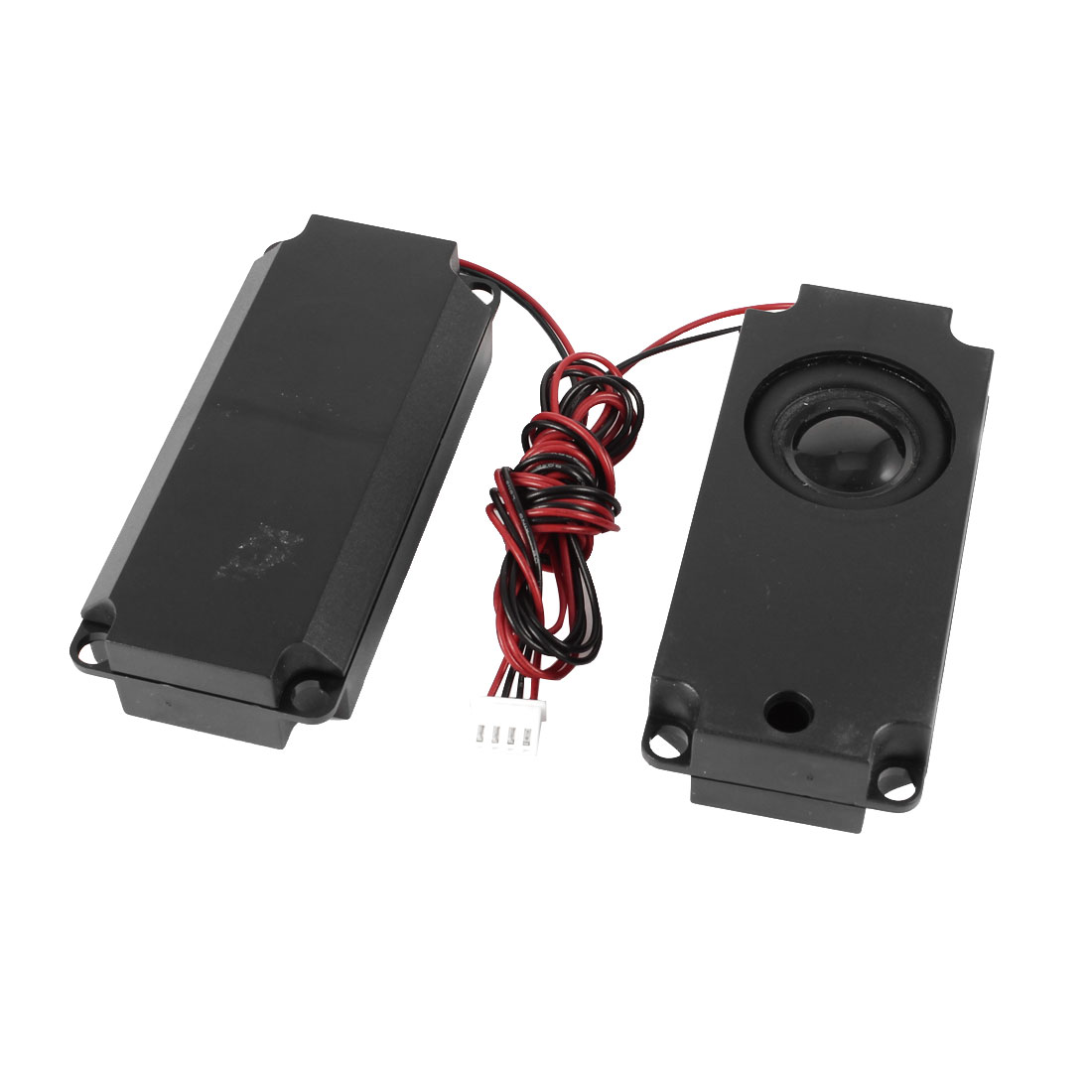 Pair 100mm x 45mm x 21mm Plastic Leads Connect Audio Speaker 4 Ohm 3 Watt